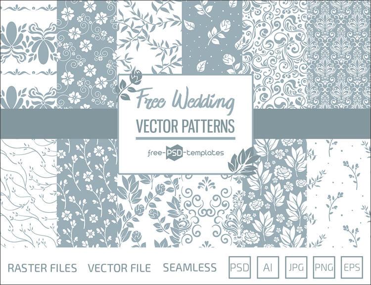 Свадебные фоны с нежными узорами для Фотошопа