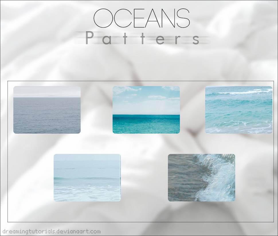 Паттерны для создания фонов с морскими пейзажами в Фотошопе