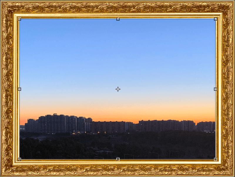 Помещение фотографии внутрь рамки в Photoshop