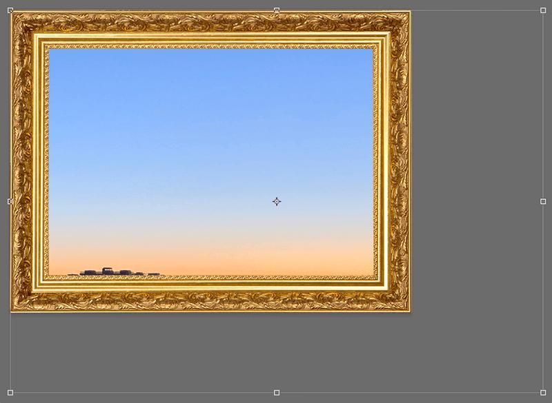 Изменение размера и положения изображения внутри рамки в Photoshop