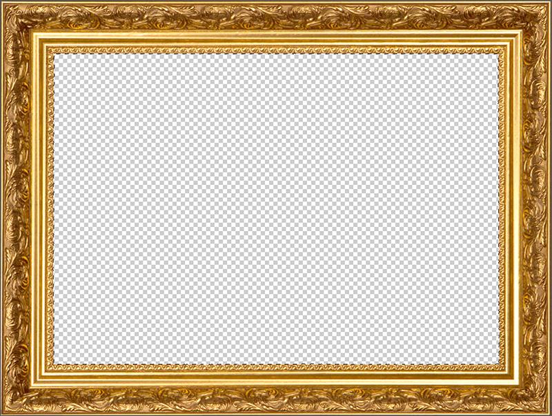 Рамка с прозрачным фоном в Фотошопе