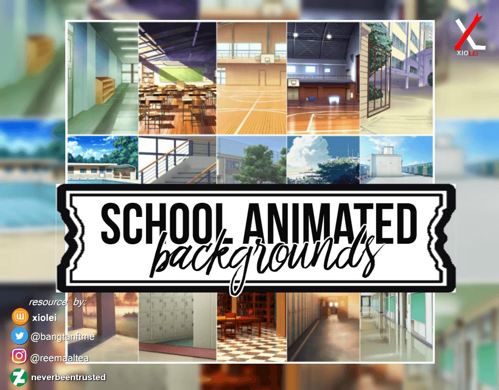 Анимированные школьные фоны для Фотошопа
