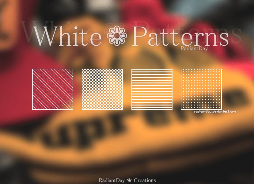 Прозрачные фоны с белыми узорами для Фотошопа