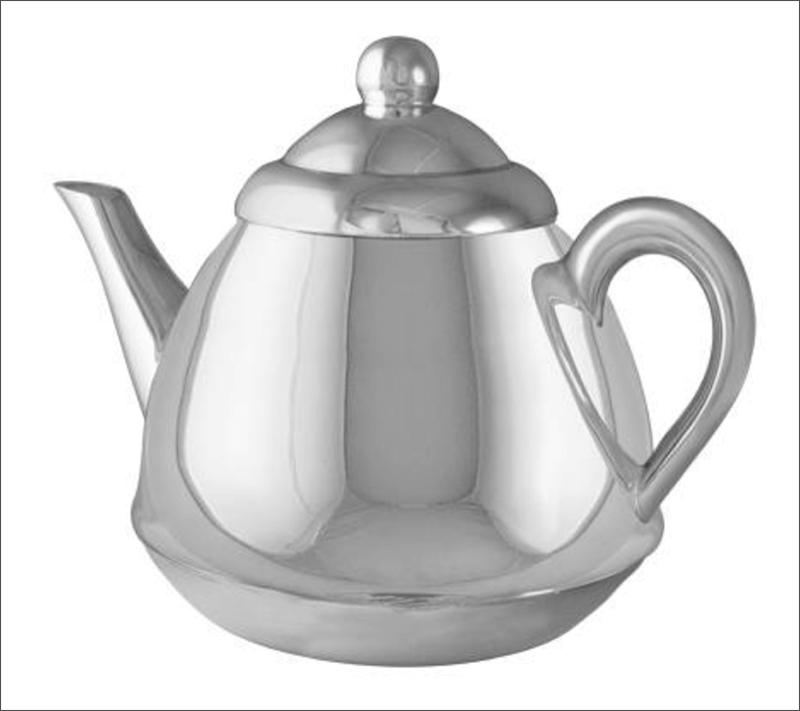 Изображение серебряного чайника для обработки в Фотошопе