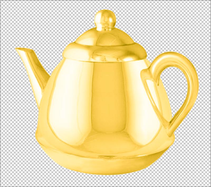 Результат имитации золотого цвета в Фотошопе