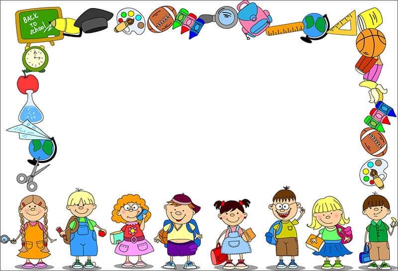 Забавная школьная рамка (для Фотошопа)