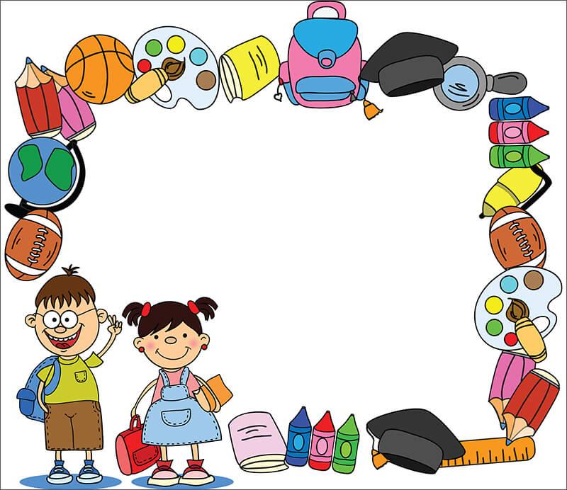 Забавная рамка со школьниками (для Фотошопа)