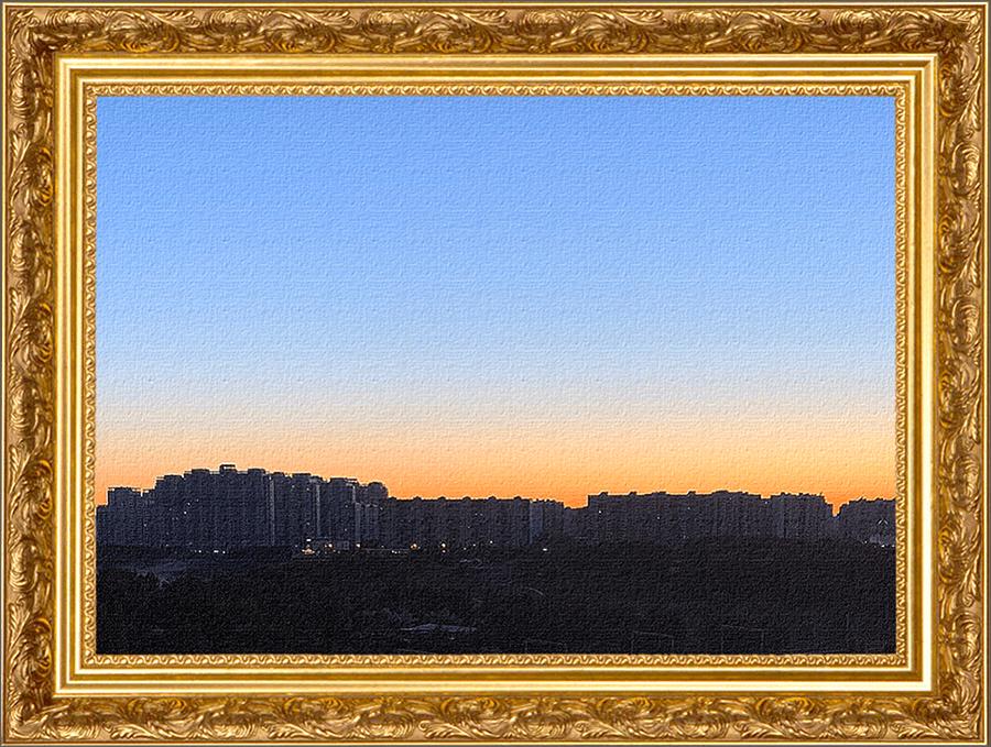 Результат вставки фото в рамку в Фотошопе