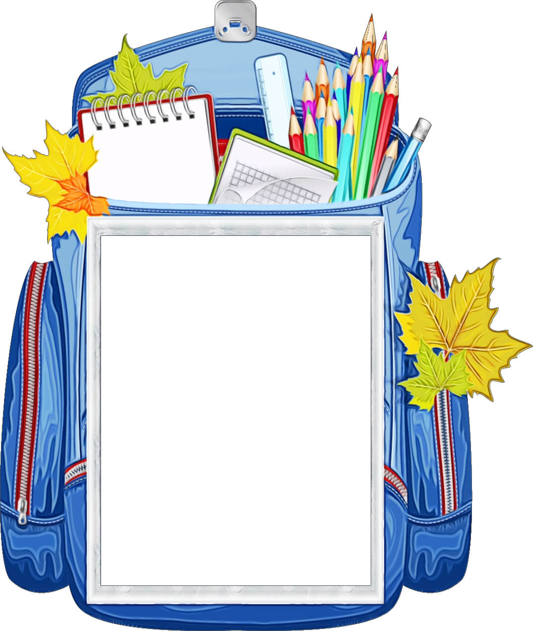 Школьная рамка в виде рюкзака (для Фотошопа)