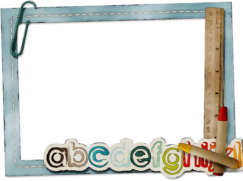 Школьная рамка с английскими буквами для Фотошопа