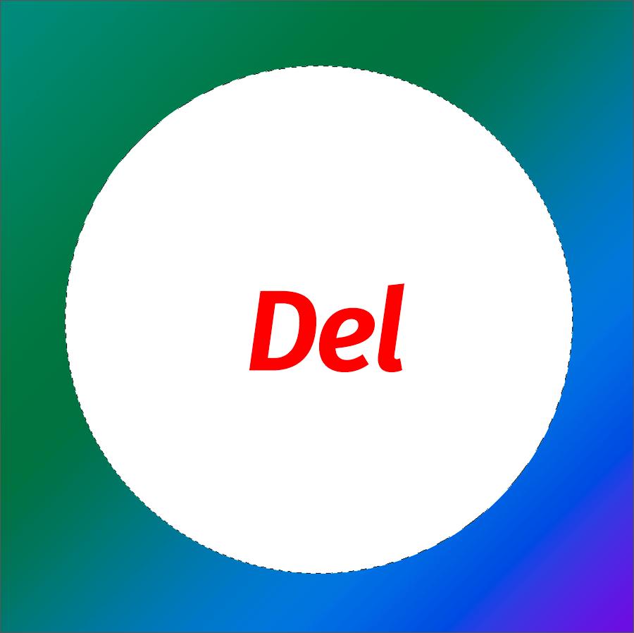 Вырезание (удаление) круга в Фотошопе