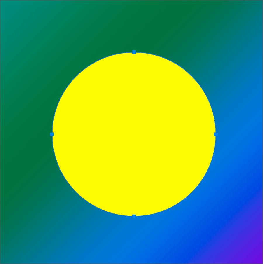 Нарисованный круг с помощью инструмента Эллипс в Фотошопе