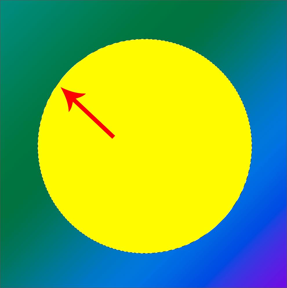 Выделенный по контуру круг в Фотошопе