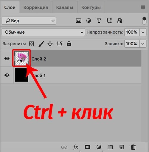 Выделение объекта на слое в Photoshop