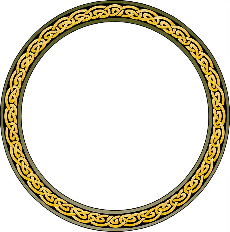Круглая рамка в виде кольца для Фотошопа