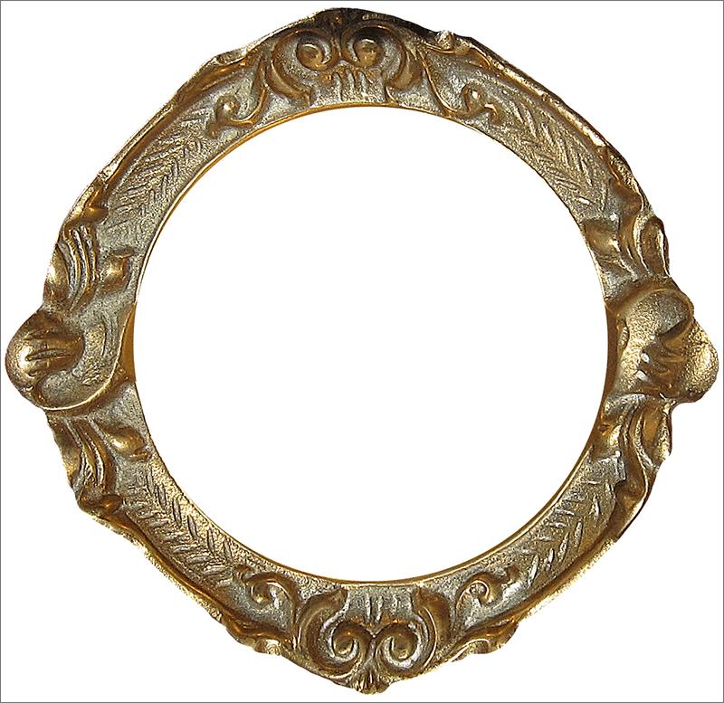 Круглая позолоченная рамка в классическом стиле для Фотошопа