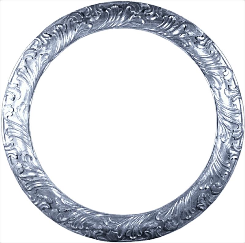 Круглая металлическая рамка для Фотошопа