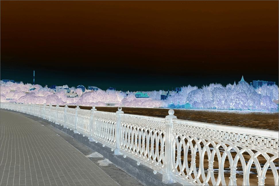 Созданный в Фотошопе негатив изображения
