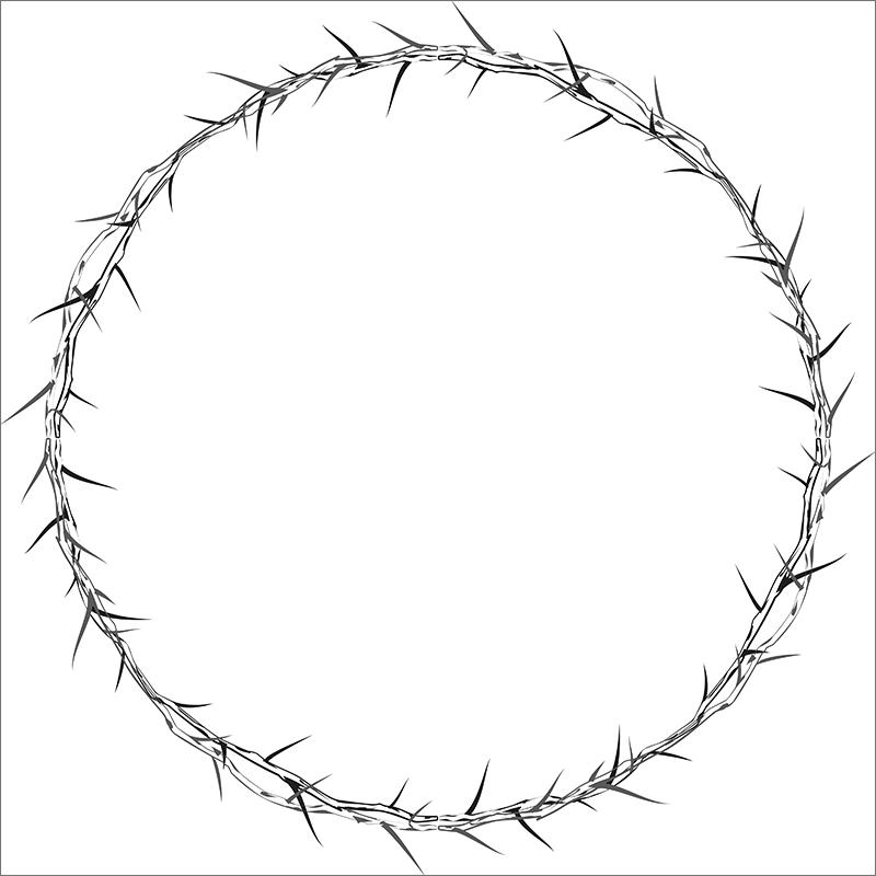 Круглая рамка из шипов для Фотошопа