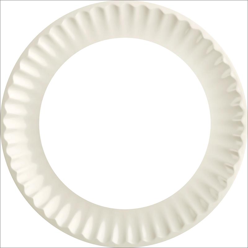 Круглая белая рамка в винтажном стиле для Фотошопа