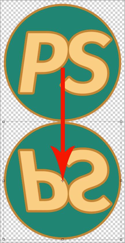 Перемещение выделенного объекта в Photoshop