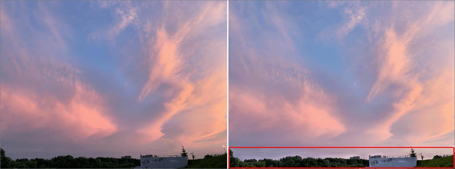 Результат осветления фотографии в Фотошопе