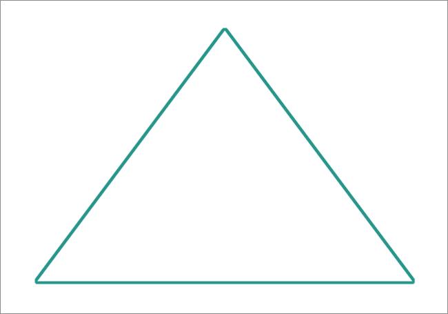 Обведенный по контуру треугольник нарисованный в Photoshop