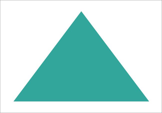 Закрашенный цветом треугольник нарисованный в Фотошопе