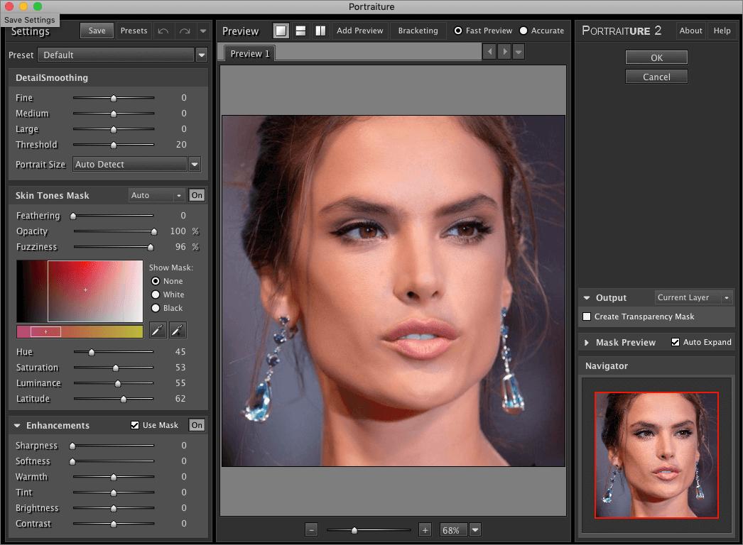 Обработка портрета с помощью плагина Portraiture в Фотошопе