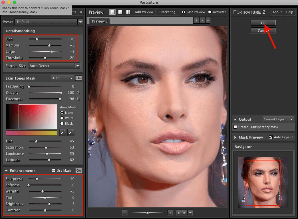 Обработка портрета с помощью плагина Portraiture в Photoshop