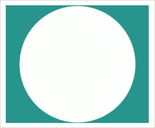 Результат применения к прямоугольнику слой-маски с круглой заливкой в Фотошопе