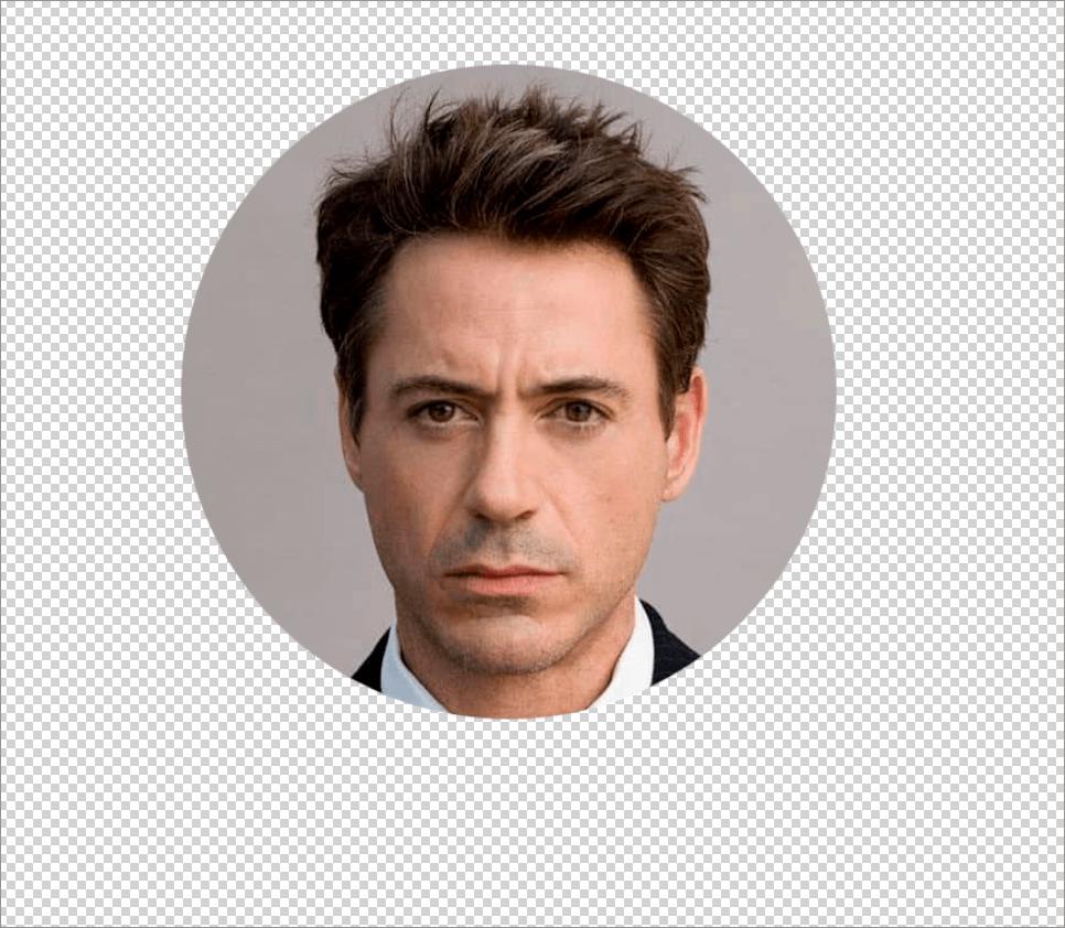 Круглое фото на прозрачном фоне в Photoshop