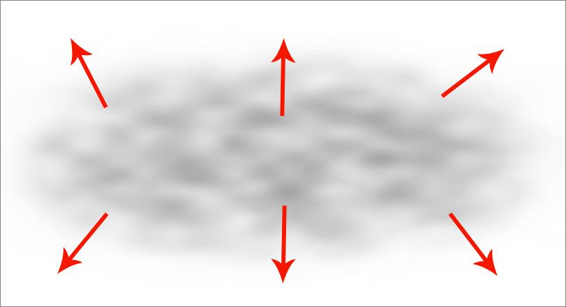 Обработка краев тумана в Фотошопе