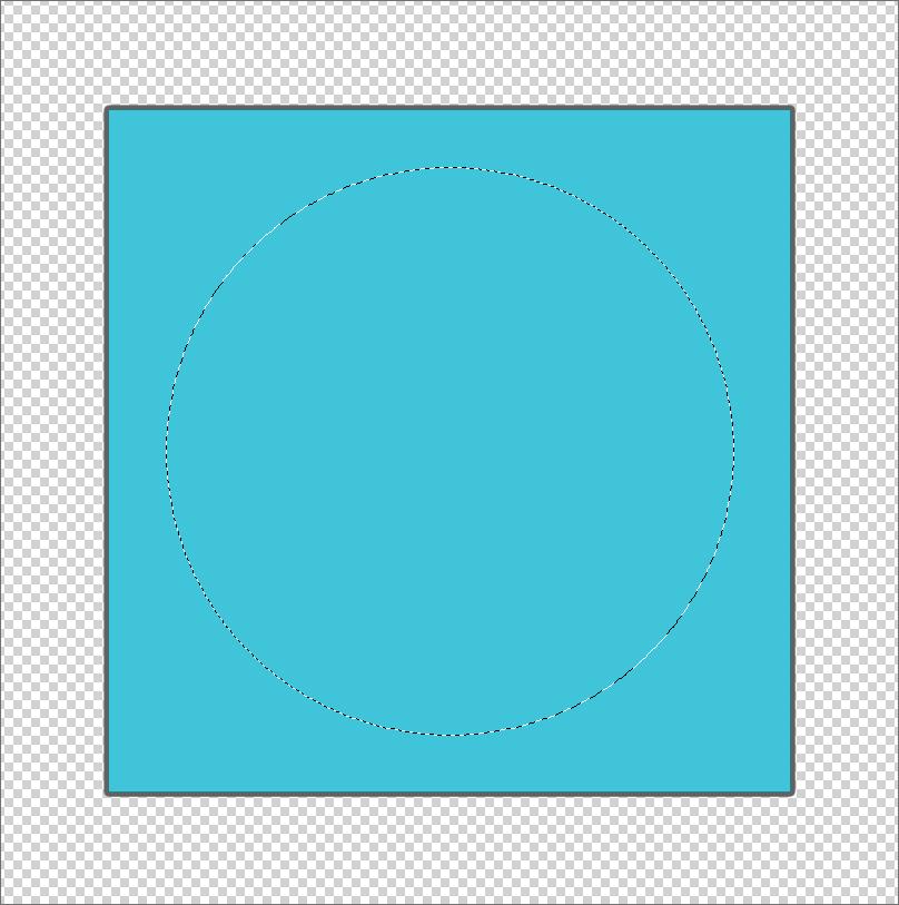 Квадрат с выделенной круглой областью внутри