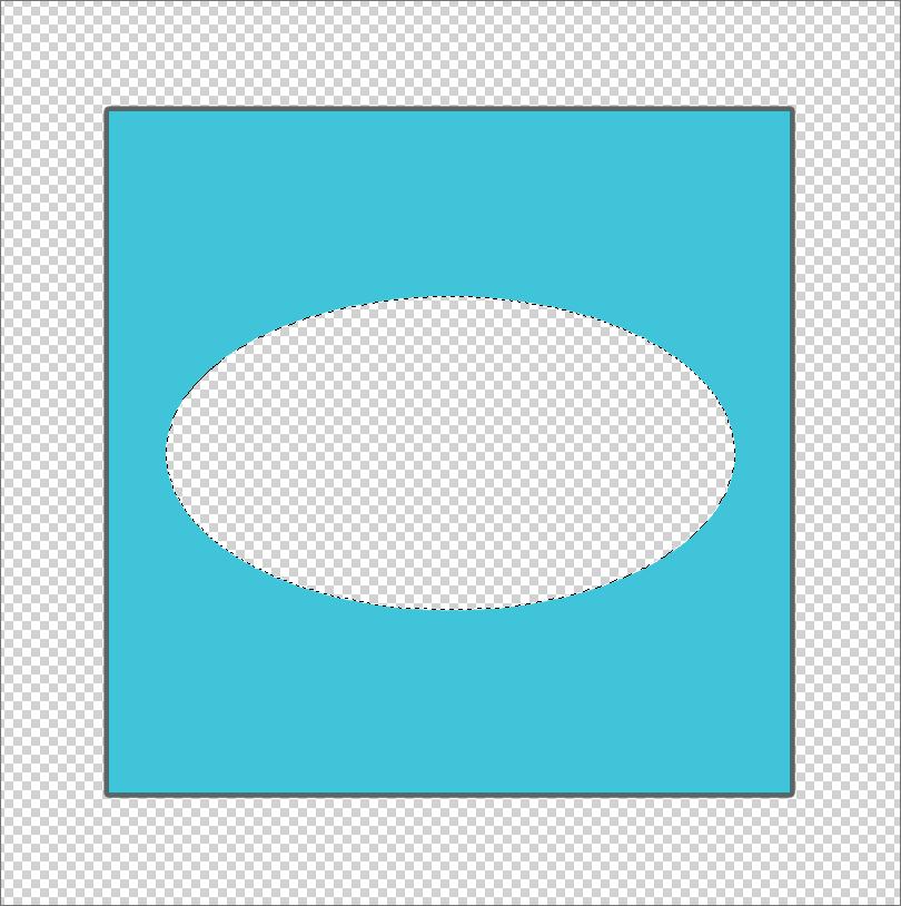 Квадрат с вырезанным овалом внутри