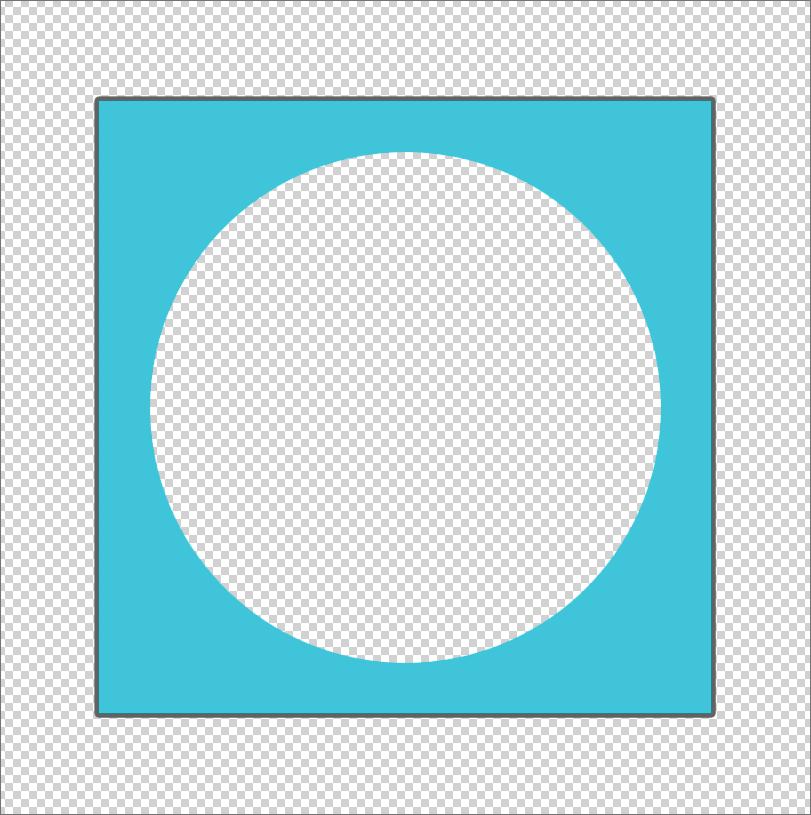 Квадрат с вырезанным кругом внутри