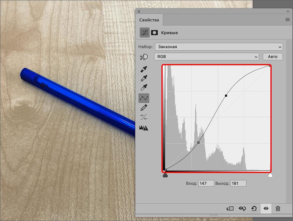S-образная кривая в Фотошопе